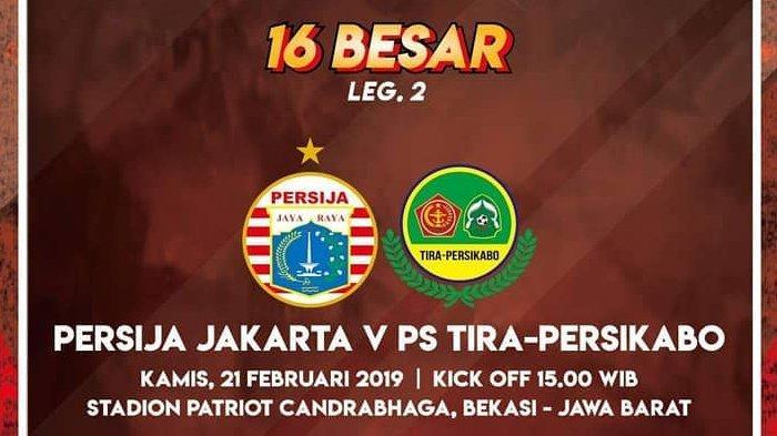 Jadwal Siaran Langsung Persija Vs PS Tira Persikabo di Piala Indonesia, Live di Jawapos TV Sore Ini