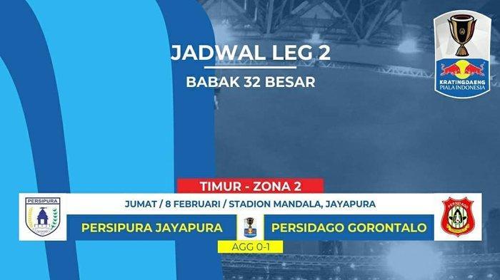 Live Streaming Persipura Jayapura Vs Persidago Gorontalo Piala Indonesia Jumat 8 Februari 2019