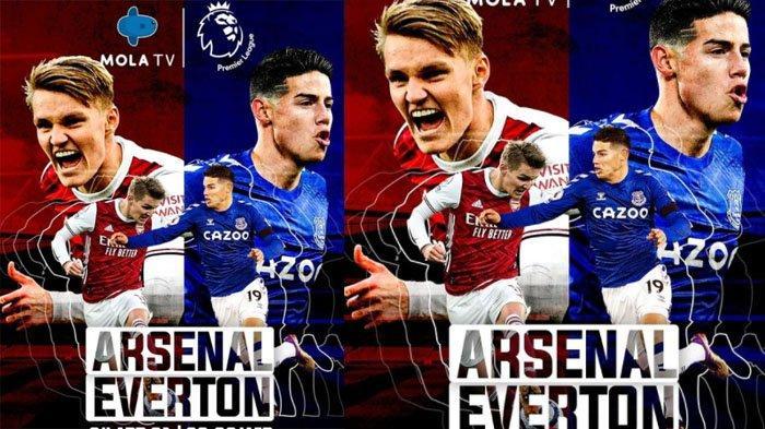 Link Live Streaming Liga Inggris di Mola TV, Arsenal vs Everton, Penentuan Posisi di Akhir Musim