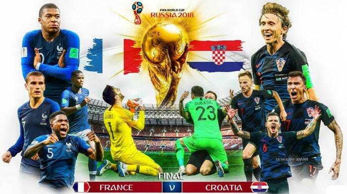 5 Fakta Final Piala Dunia 2018 Prancis Vs Kroasia 15 Juli Pukul 19.00 WIB, Prancis Tak Pernah Kalah