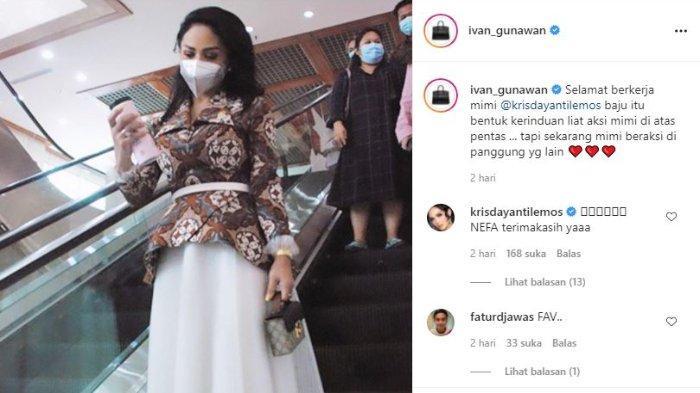 Pesona cantik Krisdayanti kenakan baju batik rancangan Ivan Gunawan saat ngantor di DPR.
