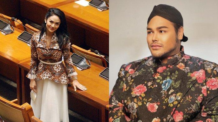 Intip Pesona Cantik Krisdayanti Kenakan Batik Rancangan Ivan Gunawan Saat Ngantor di DPR RI
