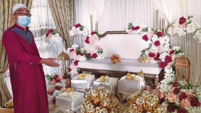 Pesta pernikahan tetap dilakukan saat mempelai suami diduga tenggelam (Oh Media via Tribun Medan)