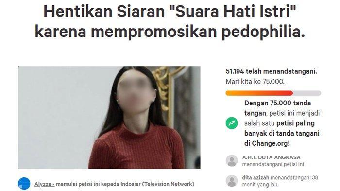 Petisi hentikan siaran Suara Hati Istri.