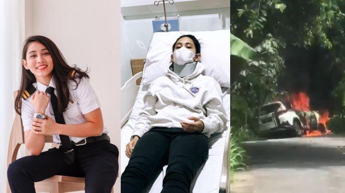 Pilot Cantik Athira Farina Kecelakaan di Nusa Penida, Mobil Terbentur Pohon hingga Terbakar Api