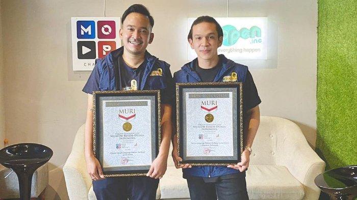 Podcast Horor Ruben Onsu & Jordi Onsu Sabet Penghargaan Rekor MURI, Catat Penonton Terbanyak