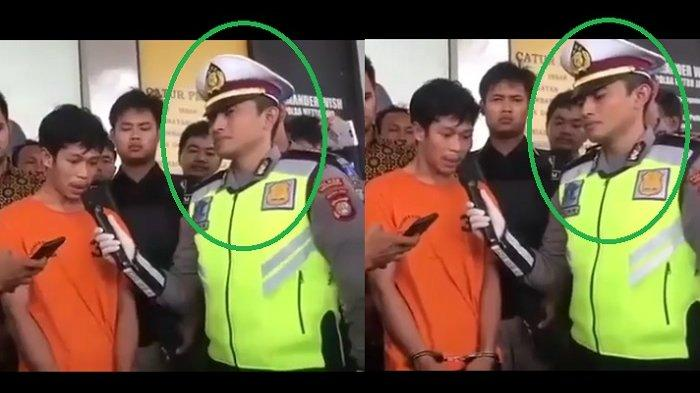 Polisi di sebelah Adi Saputra jadi perbincangan