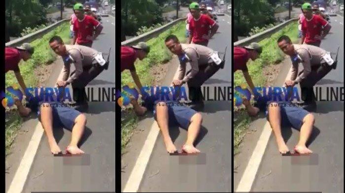 Beredar Video Viral Polisi Pasuruan Selamatkan Bapak dan Anak Korban Tabrak Lari, Sigap Banget!