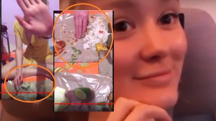 Polly Alexandria tiba di Indonesia ketemu Nur Khamid suaminya dan langsung ikut santap sahur nasi bungkus lauk tahu terong lalapan.