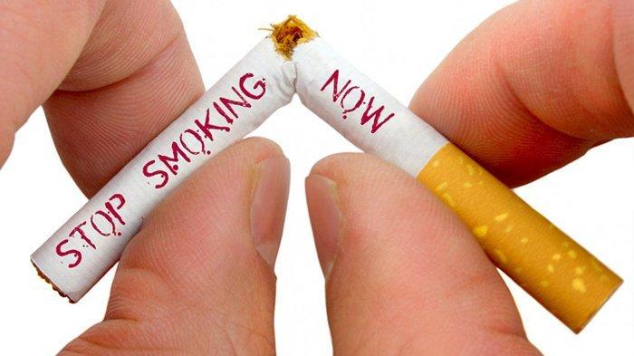 Poster berhenti merokok.