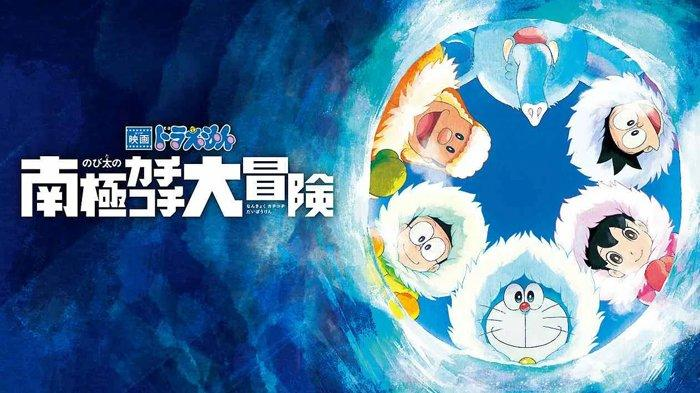 Poster film Doraemon: Great Adventure in the Antarctic Kachi Kochi.