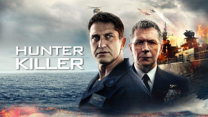 Poster film Hunter Killer, dibintangi Gerard Butler.