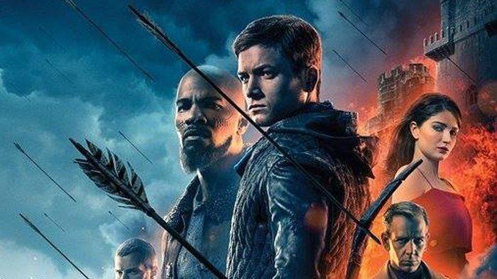 Poster film Robin Hood versi 2018.