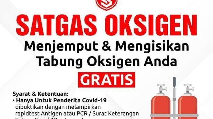 Poster yang digunakan penipu isi ulang tabung oksigen
