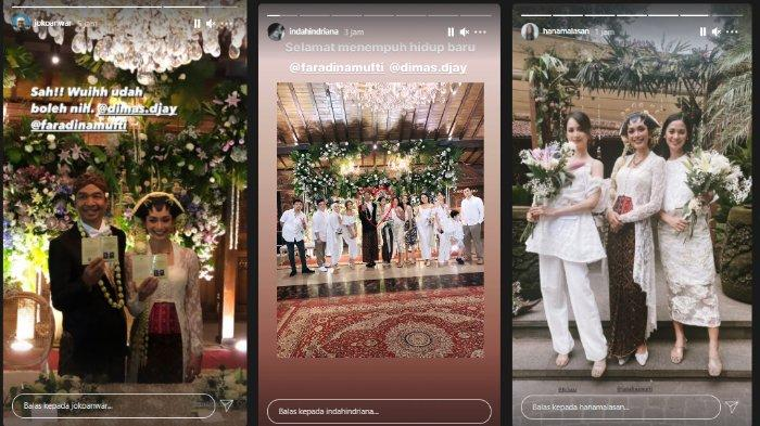 Potret akad nikah Dimas Djay dan Faradina Mufti