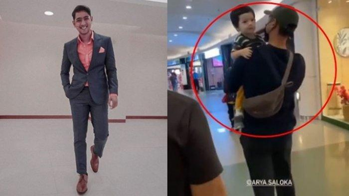 Pria Bertopi Gendong Anak Jalan-jalan di Mall, Pengunjung Cuek Tak Sadar Itu Arya Saloka
