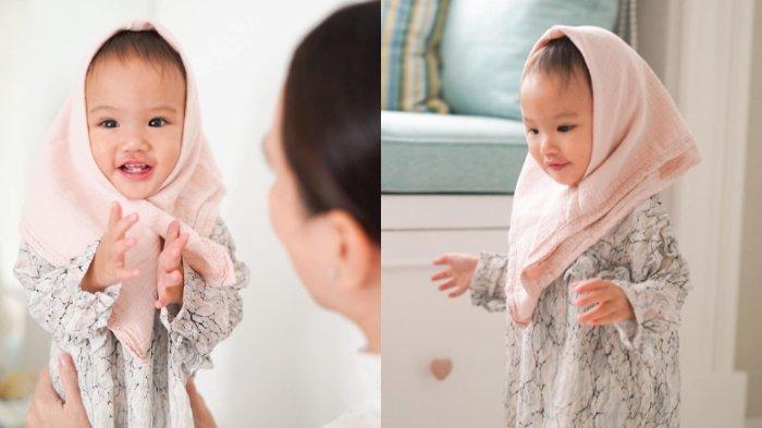 POTRET Gemas Baby Claire, Semringah Pakai Hijab saat Lebaran, Shandy Aulia Ingin Ajarkan Toleransi