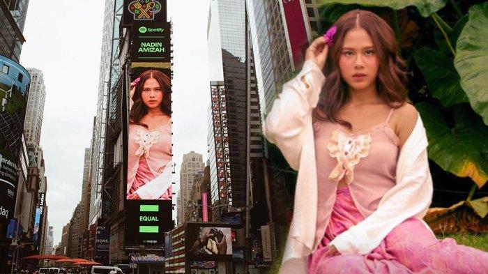 Wajah Nadin Amizah Nangkring di New York's Times Square untuk Spotify EQUAL Campaign, Apa Itu?