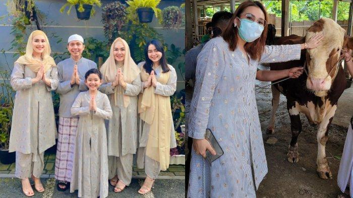 Potret Perayaan Idul Adha Keluarga Ayu Ting Ting, Ikut Saksikan Penyembelihan Herwan Kurban