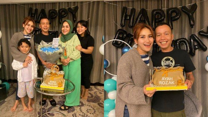 POTRET Perayaan Ultah Abdul Rozak, Dapat Bunga dan Kue, Ayu Ting Ting: Doa Terbaik untuk Ayah