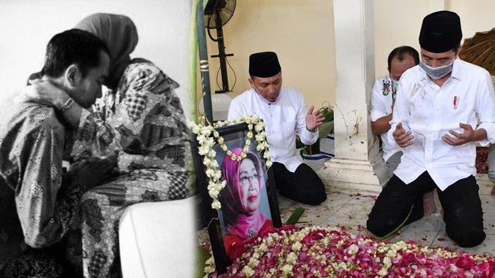 POPULER Foto-foto Jokowi Melepas Kepergian Sang Ibunda, Turun ke Liang Lahat & Terlihat Sendu
