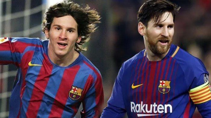 Potret transformasi Lionel Messi selama di Barcelona.