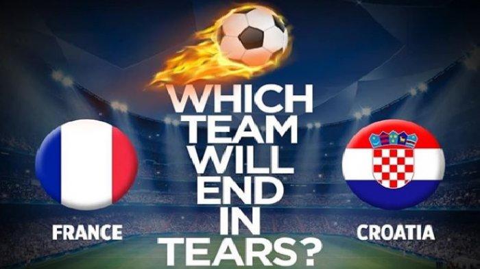 3 Cara Live Streaming Prancis vs Kroasia - Laga Final Piala Dunia 2018 22.00 WIB Malam Ini!