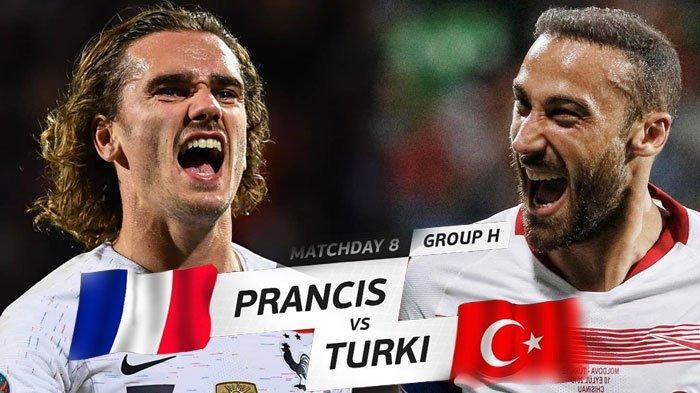 LIVE STREAMING Prancis vs Turki Big Match Kualifikasi EURO 2020, Selasa Kick Off Jam 01.45 WIB