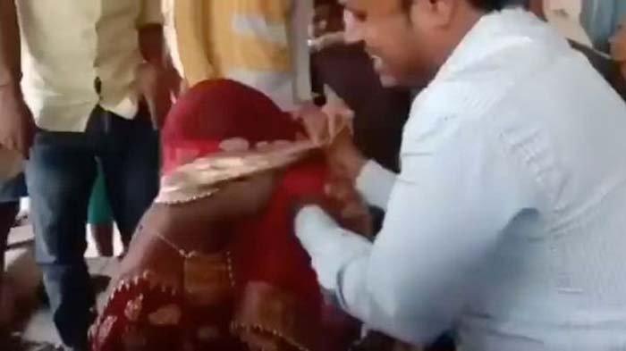 Pria berdandan menyerupai wanita dan menyelinap ke pesta pernikahan kekasih gelapnya