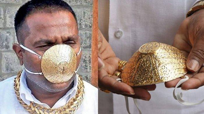 Viral Pria Ini Pilih Pakai Masker Emas, Harga Pembuatannya Capai Rp 56 Juta