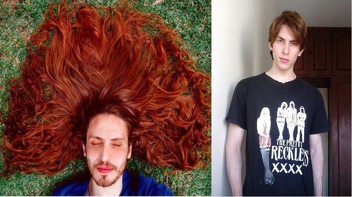 Dibully dan Akhirnya Tumbuhkan Rambut, Pria Ini Dijuluki 'Rapunzel' Karena Miliki Rambut Indah
