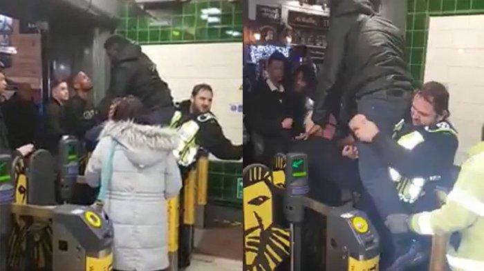 Gaya-Gayaan Pengen Lompatin Gerbang Masuk Commuter, Anunya Pria Ini Malah Kejepit!