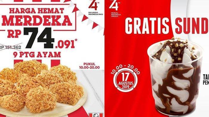 Simak & Catat 9 Diskon Hingga 74% Peringati 17 Agustus, dari PHD, McD, KFC Hingga Starbucks