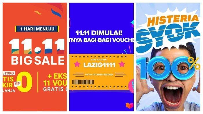 HARI INI Harbolnas 11.11, Intip Daftar Promo Terlengkap Shopee, Bukalapak, Blibli, dan Lazada