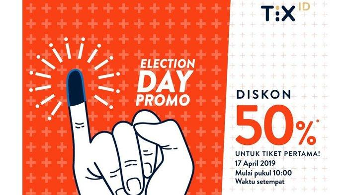 Promo Pemilu 2019 Diskon 50 Persen untuk Semua Film yang Tayang di XXI Pakai TIX.ID, Simak Syaratnya
