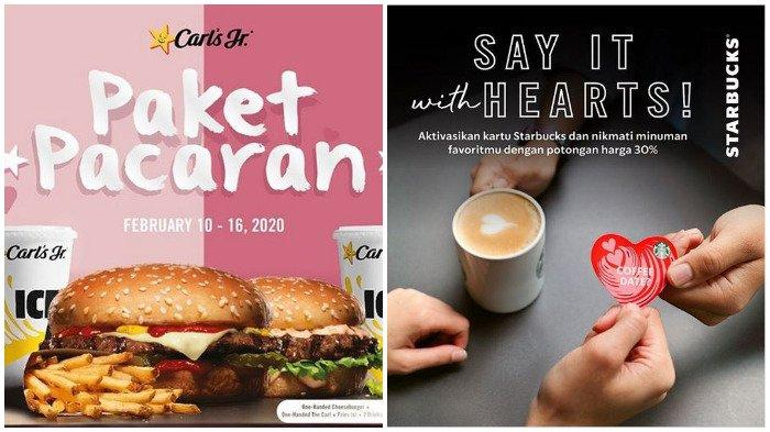 Promo Valentine 2020, Bisa Dinikmati Dengan Pasangan atau Sendirian, dari Carl's Jr hingga Starbucks