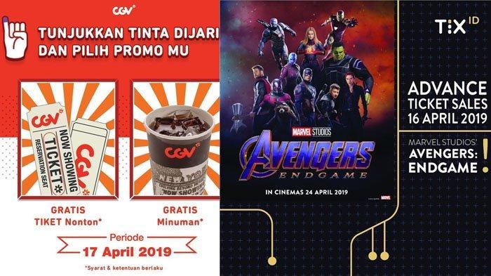 Promo Pemilu 17 April 2019 TIX.ID & CGV Cinema Bagi Tiket, Minuman, Popcorn Gratis Sampai 19 April!