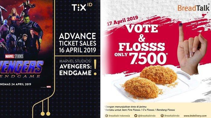 10 Promo Pemilu 17 April 2019, Diskon 50% TIX.ID, Starbucks hingga Breadtalk, Cuma Berlaku Hari Ini!