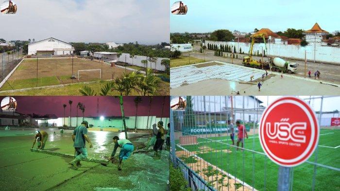 Proses pembangunan Abe Mini Stadium