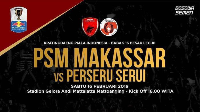 Jadwal dan Live Streaming Jawapos TV Live Delay PSM Makassar vs Perseru Serui, Sabtu (16/2)