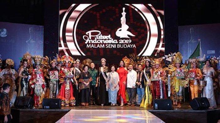 Gelar Malam Seni Budaya, Intip Keindahan Gaun-gaun Khas Para Finalis Puteri Indonesia 2019