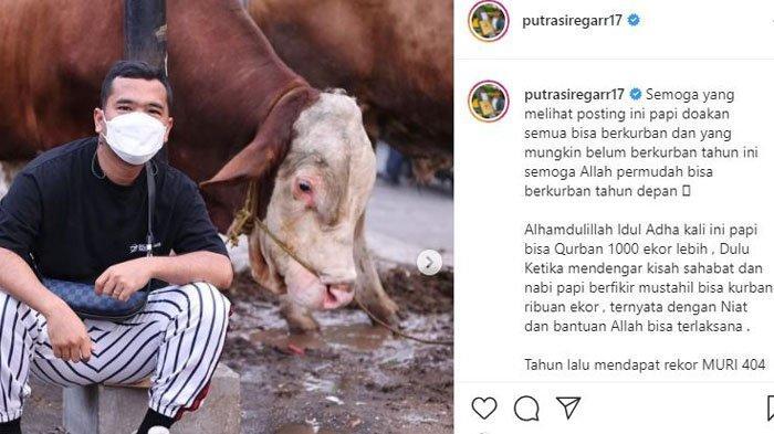 Putra Siregar, pemilik PS Store sumbang 1000 ekor hewan kurban di Hari Raya Idul Adha tahun ini