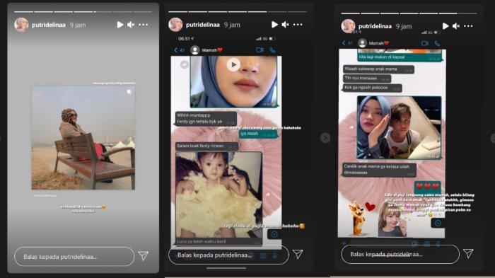 Putri Delina memamerkan chat WhatsApp dengan mendiang Lina Zubaedah.