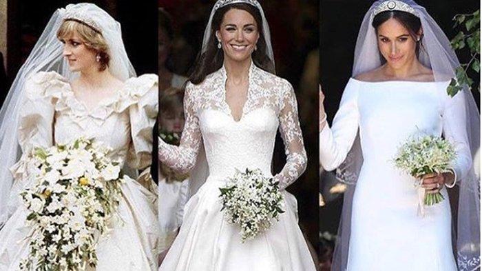 7 GAUN Pernikahan Termahal Sedunia, Dari Putri Diana Hingga Ratu Elizabeth, Termahal Rp 107 Miliar