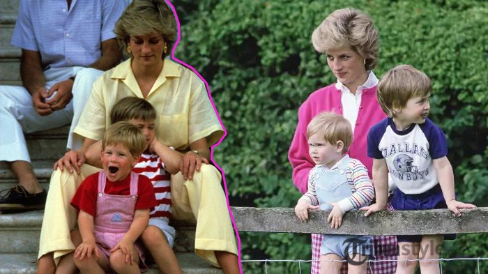 Putri Diana, Pangeran William, dan Pangeran Harry