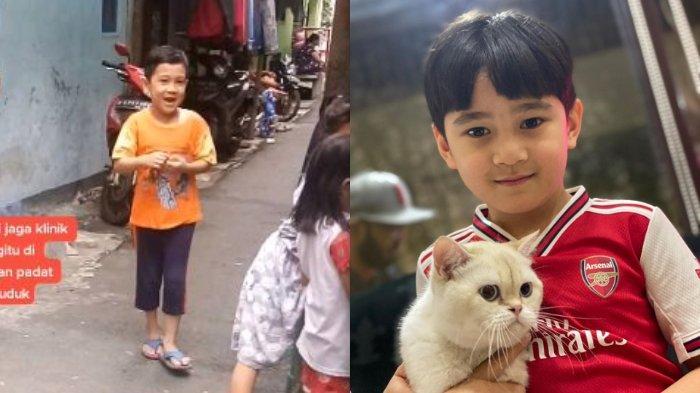 VIRAL Bocah Berwajah Mirip Rafathar Anak Raffi Ahmad, Main di Gang Sempit, Doa 'Semoga Rezeki Artis'