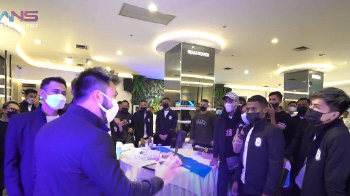 Raffi Ahmad dan Rudy Salim di Family Gathering RANS Cilegon FC