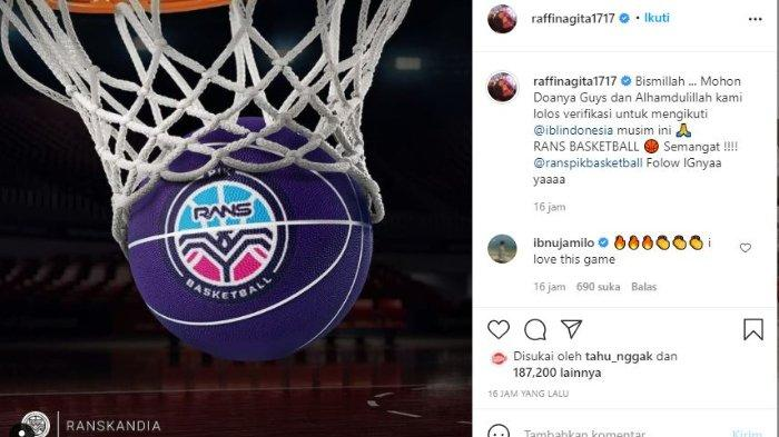 Raffi Ahmad miliki tim basket, RANS PIK Basketball.