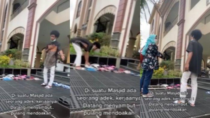 VIRAL Pemuda Sambut hingga Rapikan Sandal Jamaah, Ternyata Anak Pemilik Masjid, Ogah Ketahuan Kaya