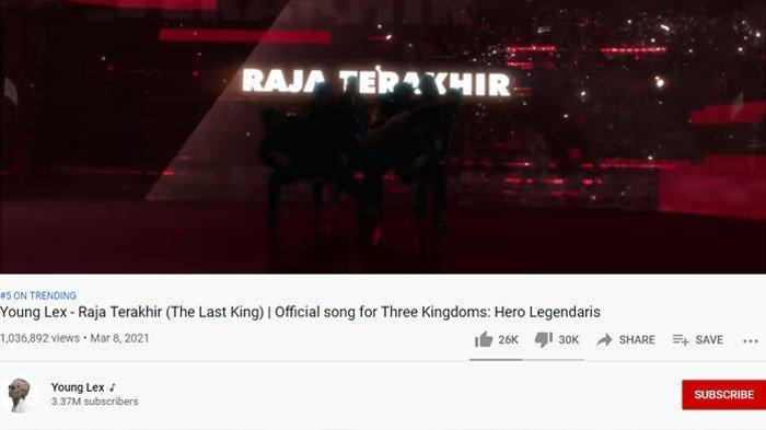 Raja Terakhir - Young Lex, banjir dislike